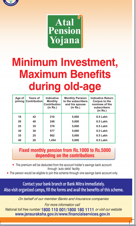 Atal Pension Yojana Age Limit