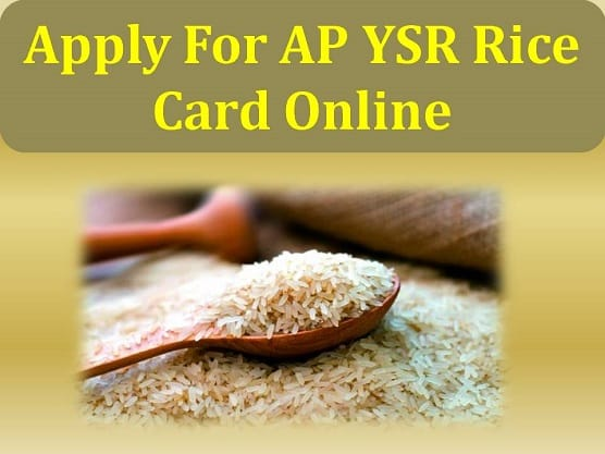 Apply For AP YSR Rice Card Online